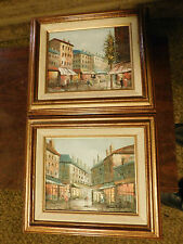 "(2) Henri Rogers Oil Paintings on Board, framed 13""x15"""