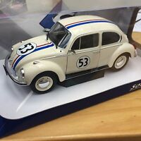 HERBIE VW Beetle 1303 diecast model rally car beige No.53 1:18th SOLIDO 1800505