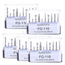 Sale! 10 X Dental Bur Daimond Burs Preparation Repair Kit FG-110 Black AZDENT