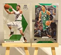 Jayson Tatum Prizm & Mosaic Base *2 Card Lot* (Non Rookie Card) Celtics!