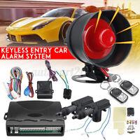 Kit Chiusura 2 Porte Centralizzata Allarme Antifurto Telecomando Auto Universale