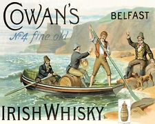 COWAN'S IRISH WHISKY BELFAST IRELAND METAL SIGN PLAQUE OTHERS ARE LISTED 1002