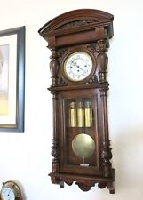 Antique Gustav Becker Grande Sonnerie, wall clock,1911 original Vienna regulator