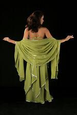 Voile de danse orientale demi lune brodée or ou argent différentes couleurs