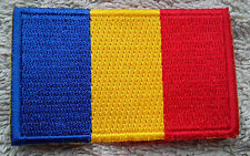 CHAD FLAG PATCH Embroidered Badge Iron or Sew on 3.8cm x 6cm Tchad علم تشاد NEW