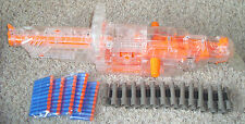 NERF VULCAN CLEAR EBF-25 PULSE RIFLE CHAIN GUN 8 FEET, Belt, 25 BULLETS COOL