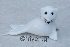 WHITE HARP SEAL FIGURINE@Unique ATLANTIC Glass Gift@ARCTIC OCEAN HABITAT@HUNTER