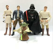 "5pcs Lot Star Wars HAN SOLO YODA KENOBI OBIWAN CHEWBACCA 3.75"" Figure Kid Toy"