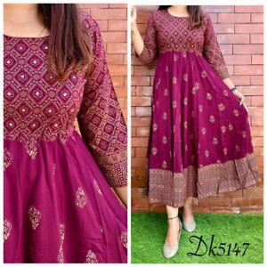 Salwar Kameez Heavy Gown Long Kurti Indian Bollywood Party Wear Kurta Pakistani