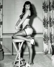 Vintage Photo re-print Wall Art Print of 1950s Pin-up Bettie Page A4 Print