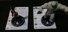 2x Piece Le Heroclix Lot / Abominable Snowman - Toy Soldier / Used
