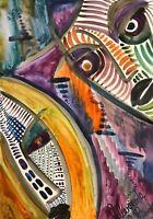 Margarita Bonke Zeichnung PAINTING abstract abstrakt erotica EROTIKa akt nu nude