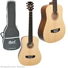 CORT EARTH MINI ACOUSTIC SOLID TOP STEEL STRING TRAVELLER GUITAR - EARTHM