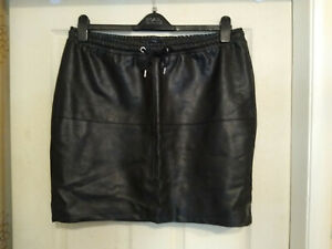 Jazlyn Black Leather Look Skirt Size 44 EU (approx UK 18)