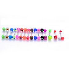 16Pcs New Different Style Tongue BarTongue Bar Body Piercing Surgical Jewelry