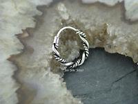 Ohrring Keltische CREOLE 14mm Kordel Gothic Celtic Style Silber 925