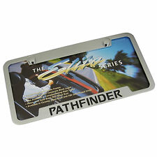 Nissan Pathfinder Chrome Brass Notched License Plate Frame