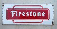 1930's Old Vintage Collectible Old Firestone Tyre Ad Enamel Porcelain Sign Board
