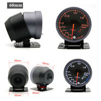 """Universal 2.5"""" 60mm Racing Car LED -1~2 Bar Turbo Boost Gauges Meter 12V"""