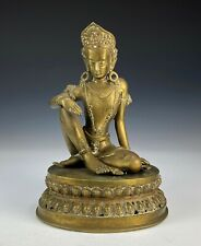 Old Nepalese Bronze Statue of Seated Figure