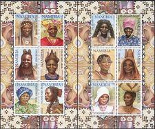 Namibia 2002 Headdresses/Hairstyles/Hair/Costumes CORRECT 2 x 6v sht (n16599)