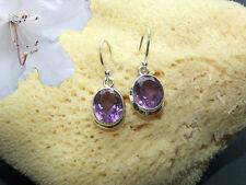 Ohrringe mit Amethyst Ohrhänger echt 925 Sterling Silber Fb. Lila   BC16