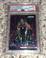 2018-19 Panini Prizm Basketball #53 Kawhi Leonard Purple Fast Break /75 PSA 10