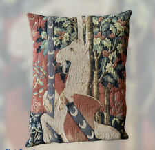 Allan Waller Medieval French Tapestry Lady and the Unicorn Pillow #1