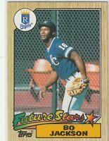 1987 Topps- Bo Jackson ROOKIE 'Future Stars' Kansas City Royals #170 Baseball