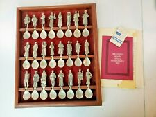 Complete Franklin Mint Canterbury Tales Pewter Spoon Collection - 24 Spoons !