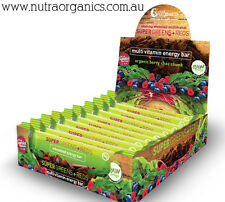Super Greens+Reds multi vitamin energy bars - box of 12 x 45g