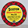 "Vintage Round Plaid Tartan Scotch Electrical Tape No 33 Tin - 3 1/2"" Diameter"