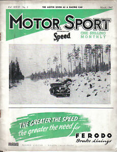 Motor Sport 03/47 Racing Austin Seven 40/50 Napier London Car Factories