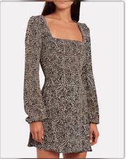 Flynn Skye Leopard Print Mini Dress Long Sleeve Womens Medium