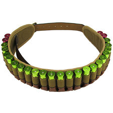 Tactical Military Bandolier Cartridges Belt Ammo Holder Shotgun 12GA Brown Shoot