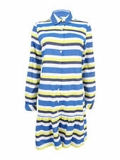 Tommy Hilfiger Women's Striped Shirtdress 10, Pacific Multi