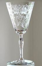 Fostoria Glass WOODLAND Etch Crystal Clear Tall Water Goblets
