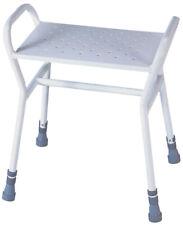Aidapt White Rochester Adjustable Height Shower Stool VB509