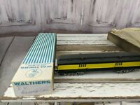 C&W coach baggage unmarked northwestern green yellow train car toy HO freight