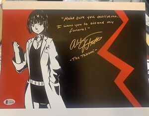 ABBY TROTT SIGNED 11x14 PHOTO PERSONA 5 TAE TAKEMI AUTOGRAPH BECKETT BAS COA D1