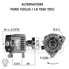 ALTERNATORE FORD FOCUS I 1.8 DI TDDI TDCI
