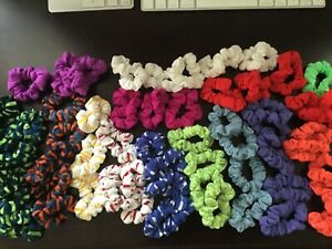 (4) Scunci Samples Soft Knits Scrunchies, Assorted prints and colors