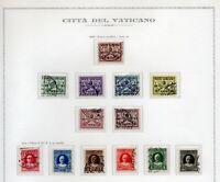 1929 VATICANO CONCILIAZIONE SERIE 13 VALORI - USATA