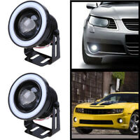 "2.5""/3""/3.5"" COB LED Fog Light Projector Angel Eye Halo Ring DRL Driving Bulb"