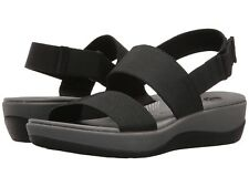 Women's Shoes Clarks Arla Jacory Casual Wedge Sandals 25603 Black *New*
