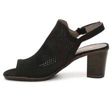 NEW Tamaris Womens Wortmann Peeptoe Sandals Size 5.5 Black Slingback Block Heel