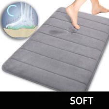 Microfiber Memory Foam Bath Rug Mat Soft Material Absorbent Shower Floor Gray
