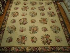 13' x 20' French Bouquet Needlepoint Flat Weave Rug
