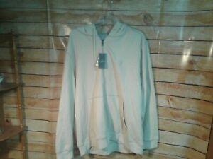 G.H. Bass & Co Men's Hoodie Tan Cotton Blend Size XXL Full Zip Comfortable Warm