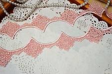 Beautiful Apricot Venise Lace Trim 36 mm Wide By The Metre